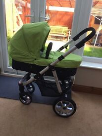 Mee-go pushchair Travel System Green with Carseat and base