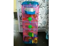 Hamster tower plus two dwarf hamsters
