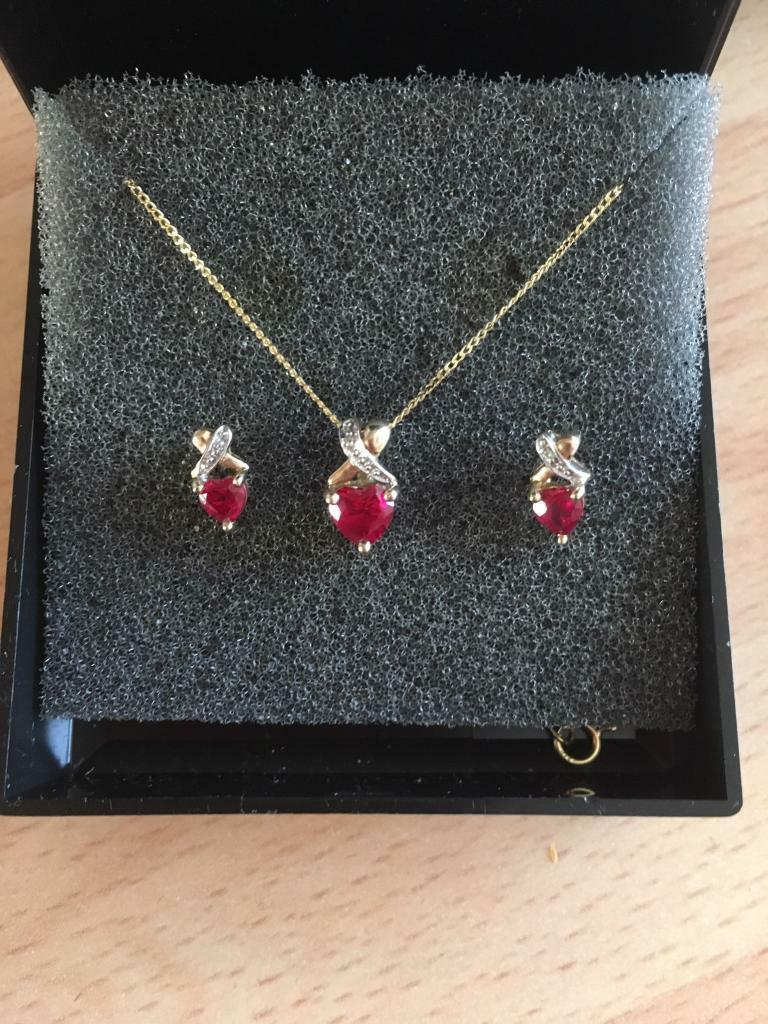 9 Ct Gold Ruby Diamond Set In Govan Glasgow Gumtree