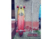 Longboard 42inch long - 70mm wheels - QUICK SALE AS MOVING
