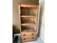 Mexican pine dresser with drawer shelves