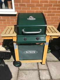 Gas barbeque with gas bottle included
