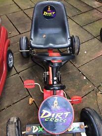 Raleigh dirt cross go kart pedal car 🚗