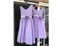 Lilac Bridesmaid Dresses (Ages 10 & 14)