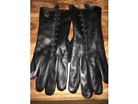 Michael Kors Astor Leather Gloves
