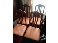 x4 antique wooden dining chairs (ALL 4 FOR £45) [DELIVERY AVAILABLE]