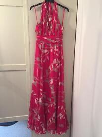Coast pink halterneck maxi dress 8