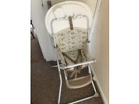 Baby folding high chair