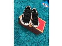 Infant size 6 black & white Vans