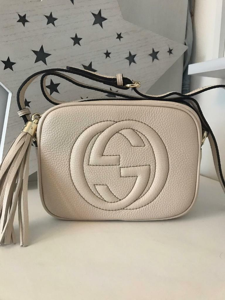 3622531769a2 REDUCED! Cream Gucci soho disco bag | in Motherwell, North ...