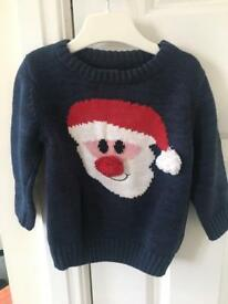 Boys Christmas jumper Next 9-12M