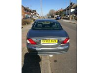 JAGUAR X-TYPE 2.0 V6 AUTO PETROL 02 REG GREY 68K GENUINE MILEAGE, FSH, MOT UNTIL FEB 2019