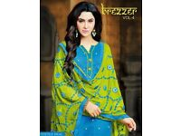 BREZZER VOL-4 BY KAPIL WHOLESALE ETHNIC DRESS MATERIAL IN TEXTILEDEAL.IN