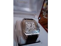 SWISS CARTIER SANTOS 100 BOXED FOR HIM