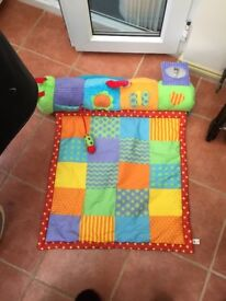 Chad Valley Baby Tummy Time Roll Mat Baby Play Mat