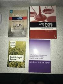 4x Law Books for study