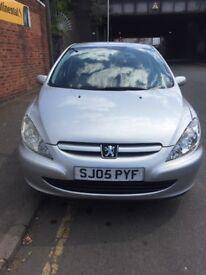 Peugeot 307 silver colour five door 1.3 petrol 1 lady owner 2 keys