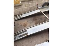 Heavy duty steel galvanised car transporter ramps