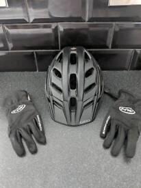 Hex mtb helmet and northwave gloves