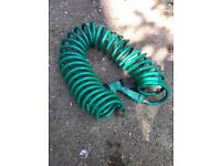 Extendable 6 meter coil water hose
