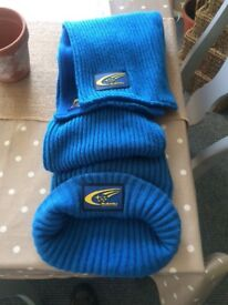 Official Subaru hat and scarf, very warm and insulated. Very collectible now especially as a pair