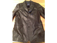 GAP Men's Black 100% Leather Blazer (medium) (never worn)