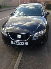 Seat Exeo 2.0 TDI Tech CVt Auto Pedal Shift Black full Leathers FSH MMI interface same as Audi A4 B7