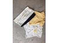 Baby girls clothes leggings and tshirts. Never worn