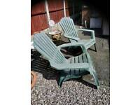 2 extra wide garden chairs