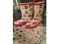 Brand new Powell craft wellies / wellingtons for girls