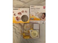 Medela swing maxi double electric breast pump, hand held manual pump, bottles, freezer bags