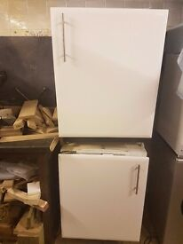 Ignis Undercounter Fridge and Freezer with White 'False Doors' (Collection Only)