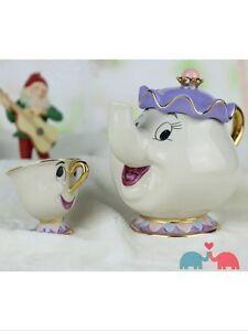 Disney Mrs. Potts Chip Tea Pot & Cup set Teapot Mug