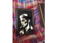 Vintage small David bowie picture mirror