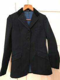 Riding show jacket Blue with velvet collar