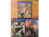 Battlefield 1, CoD Infinite Warfare & Fifa 17 - PS4