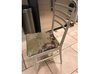 4 teak dining chairs need TLC