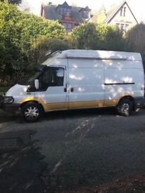 Ford transit long wheelbase high top campervan