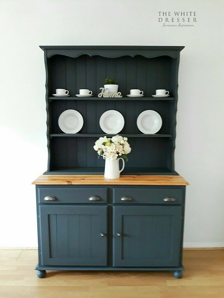 Welsh Dresser French Kitchen Lounge Furniture Farmhouse Hand Painted Solid Pine