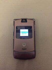 Motorola Razr v3 Pink Flip phone UNLOCKED