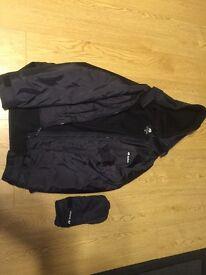 buffalo belay jacket and buffalo hood and gloves