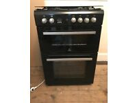 INDESIT DD60G2CGK 60 cm Gas Cooker - Black & Silver