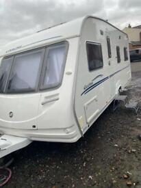 sterling eccles caravan fixed bed