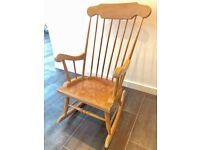 Shabby Chic Wood Rocking Chair