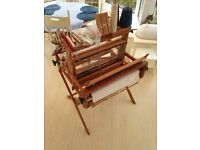 4-shaft table weaving loom with stand & accessories