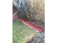 Steel beam garden decoration