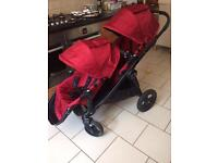Baby jogger city select double buggy/pram/pushchair
