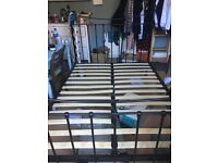 Feather and Black double bed frame (already dismantled)