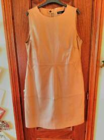 M and S Autograph Leather Dress size 16