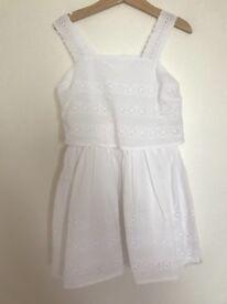 White summer dress age 5 -6 Marks and Spencer